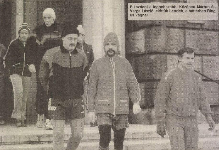 1995 - téli edzés - forrás: Nemzeti Sport