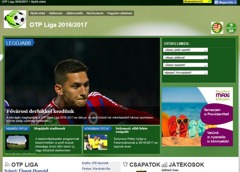 OTP Liga (foci-info) - forrás: foci-info.hu