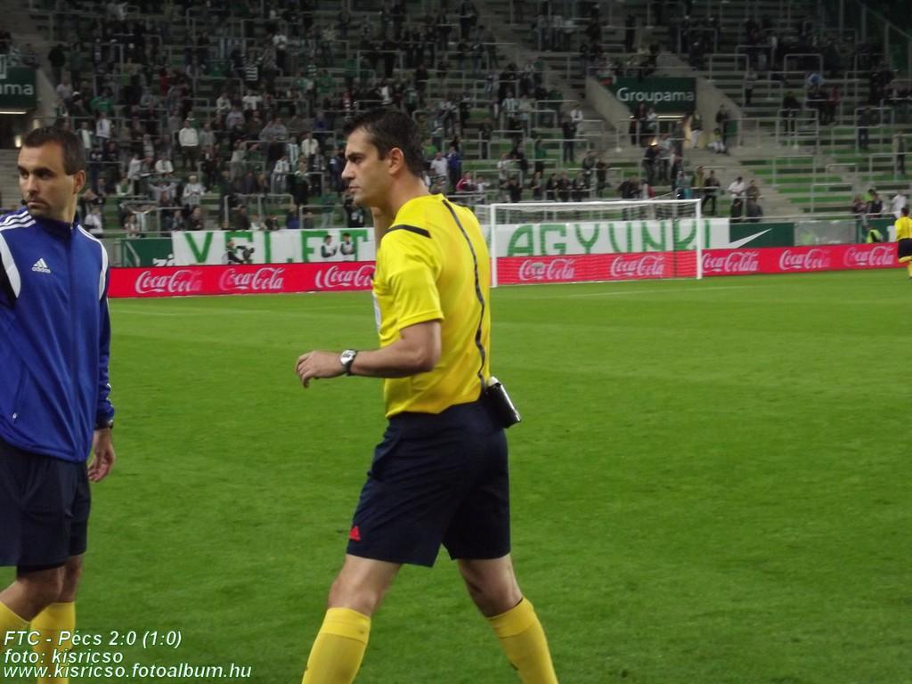 Kassai Viktor - Ferencváros-PMFC sétál - forrás: pmfc.hu