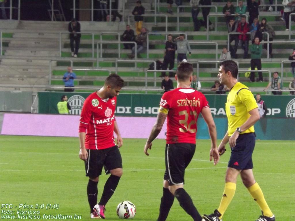 Kassai Viktor - Ferencváros-PMFC szabadrúgás - forrás: pmfc.hu