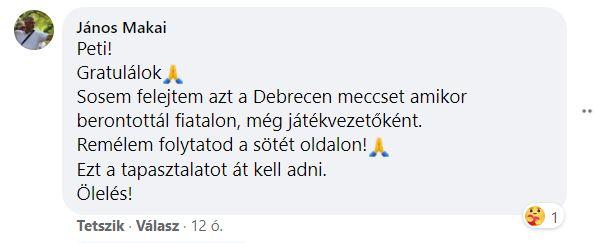 Makai János posztja (2020-10-22) - forrás: facebook.com
