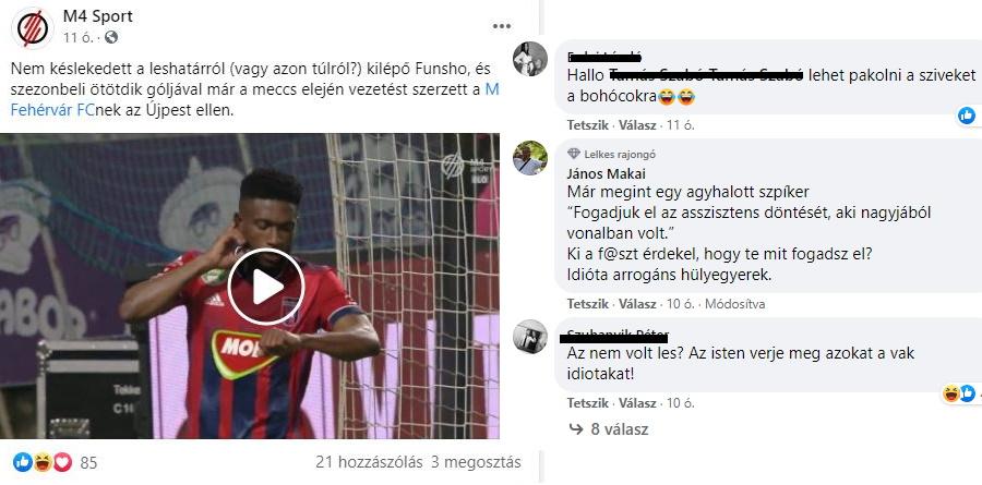 Makai János posztja (2021-01-23) - forrás: facebook.com