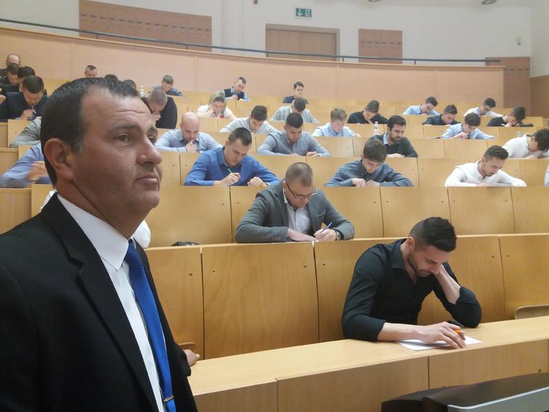 Sápi Csaba - vizsga - forrás: szabolcsjb.hu